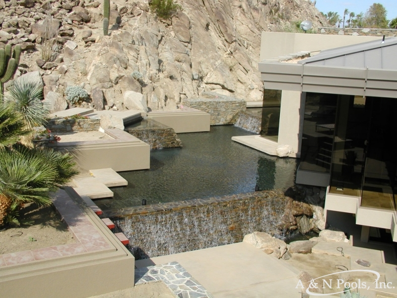 Custom Pool Features Palm Desert Portfolio Palm Springs